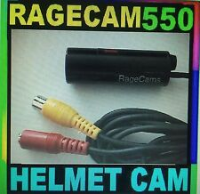 HELMET CAMERA BULLET TUBE LIPSTICK CAM RAGECAM/550-5V RCA DC SONY CCD 5 VOLT DC