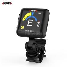 AROMA AT-102 Rechargeable Clip-on Tuner for Guitar/ Bass/ Ukulele/ Violin M6F2