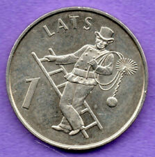 LATVIA LETTLAND 1 LATS 2008 CHIMNEY SWEEP COIN aUNC 897