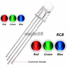 50Pcs  5mm 4pin RGB Tri-Color Common Anode LED light Red Green Blue  UK