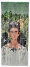 Kitsch Kitchen Türvorhang Bambus Bambusvorhang Frida Kahlo mit 2 Affen 90 x 200