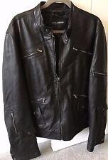 Dolce & Gabbana Homme Veste en cuir noire taille L/XL