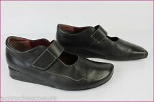 Babies STEPHANE GONTARD Made in France Cuir Noir T 38,5 BE