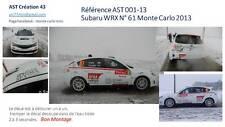Decal 1 43 SUBARU WRX N°61 Rally WRC monte carlo 2013 montecarlo