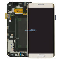 Pantalla LCD Táctil Digitalizador+Marco Para Samsung Galaxy S6 Edge SM-G925F Oro