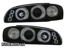 Fits Impreza Classic 93-00 Black Twin Angel Eye Projector Headlights 1 Pair