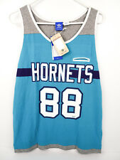 🔥 adidas Originals NBA Basketball Charlotte Hornets Tank Blue Purple Large NWT