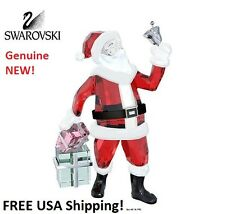 Swarovski SANTA CLAUS WITH Bell Color Crystal Figurine 5003052 NEW in Gift Box!