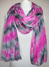 Pure Silk Wrap, Evening Shawl, Scarf - Pink and Gray, Hand Dyed.