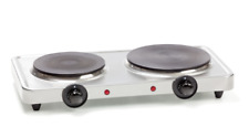 Double Hot Plate STAINLESS STEEL Cooktop