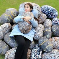 New Plush Toy Creative Simulation Pebble Stone Throw Pillow Soft Rock Cushion