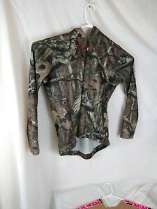 Russell Outdoors women Size XLarge 1/4 ZIP Camo Sport Sweatshirt B19