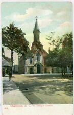 "CHARLESTON SOUTH CAROLINA SC ""ST PHILIP'S CHURCH"" DIVIDED POSTCARD"