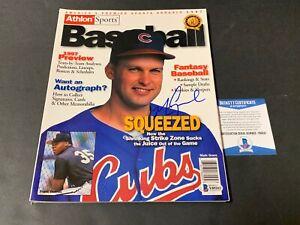 Mark Grace Chicago Cubs Autographed Signed Athlon Sports Magazine Beckett COA