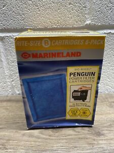 Marineland Rite Size B Penguin Power Filter Replacement Cartridge Pack of 6 NEW