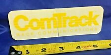 Indianapolis Indy 500 Vintage COMTRACK Race Communications Decal NEW! Yellow