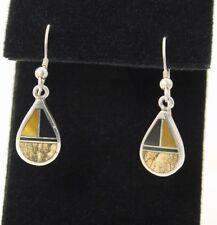 David Rosales SuperSmith Multi-Gemstone Inlay Teardrop Sterling Silver Earrings