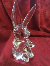 """FLAWLESS Exquisite DAUM France Glass Crystal RABBIT HARE BUNNY Figurine 6 3/4"""""""