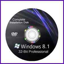Windows 8.1 32 bit Pro bit install reinstall recovery repair DVD Disc Support