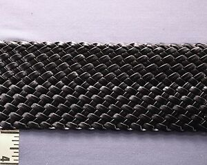 "Braided Faux Leather Trim for Bracelet Belt 3"" Black 1 yd #BG125"