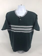 Men's Vintage High Sierra Short Sleeve Henley T-Shirt Size Large