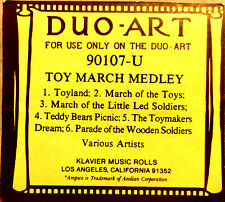 DUO-ART (ReCut Master) TOY MARCH MEDLEY 6-Song 90107-U Program Player Piano Roll