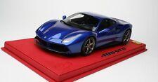 BBR 2015 Ferrari 488 GTB Blue Metallic w/Titanium Wheels LE 20 pcs 1:18*AWESOME!