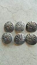 Sterling Silver Man in the Maze Buttons