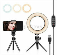 """Ring Light 6"""" w/ Tripod Stand & Phone Holder for Live Streaming & YouTube Video"""
