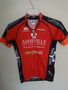 Vintage Asheville NC Cycling Biking Jersey Shirt Men XS MADE in USA by VOLER