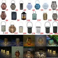 Vintage LED Solaire Extérieur Jardin Éclairage Tenture Lanterne Paysage Décor