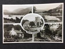 Vintage RPPC: Cumberland: #T28: Grasmere Multi View