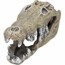 Small Aquatic Aquarium Nile Crocodile Skull Fish Tank Ornament 6x7x15cm