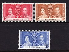 DOMINICA 1937 CORONATION SET SG 96-98 MNH.