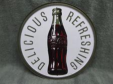 Vintage look NEW Coke Coca Cola Tin Metal Sign Pop Soda Glass Bottle
