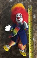 Vintage Hand Painted Porcelain Face Hands Feet 8 Inch Tall Clown