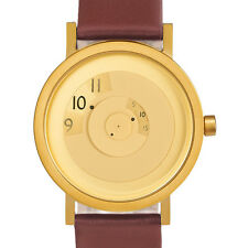 "Projects Watches ""Brass Reveal"" Quarzo Acciaio IP Oro Pelle Orologio Unisex"