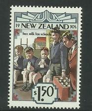 NEW ZEALAND 1993 Emerging Years 1930's milk for schools RUGBY POSTS 1v MNH