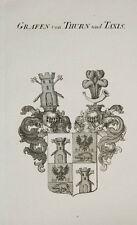 1847 Coat of Arms Wappen Grafen von Thurn und Taxis Kupferstich von Tyroff