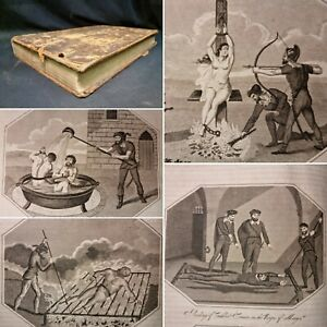 1815 Folio FOXES BOOK OF MARTYRS with all 20 TORTURE ENGRAVED PLATES Scarce
