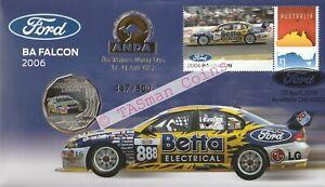PNC Australia 2019 Ford 2006 BA Falcon RAM 50c Coin O/P ANDA Brisbane L/E 500