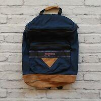 Vintage Jansport Pattern Leather Backpack Made in USA