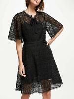 New Somerset Alice Temperley Geo Lace Dress, Black, UK 16, RRP £160
