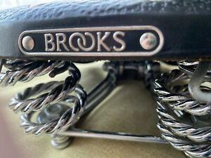 Brooks Vintage Biycycle Saddle With Broken Spring