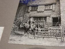 c 1940s  Horner Mill, Horner, Nr Porlock, Exmoor, Somerset, sheep shearing photo
