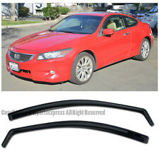 JDM IN CHANNEL Smoke Tinted Side Window Visors For 08-12 Honda Accord Coupe 2Dr