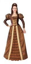 Womens Tudor Queen Renaissance Fancy Dress Costume Ladies Adult Medieval Outfit