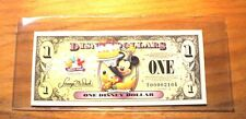 10 Disney Dollar Holders - Clear Large Size 7 7/8 x 3 3/8