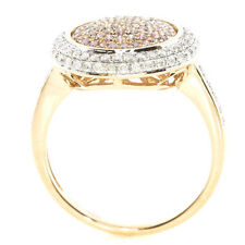 Real 1.03ct Natural Fancy Pink Diamonds Engagement Ring 18K Solid Gold 6G Band