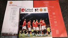 Manchester United v Burnley matchday programme plus team sheet 22.01.20